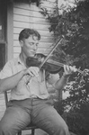 Wayne Perry Playing a Violin