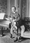 Mischa Elman Standing With Violin