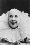 Pilar Morin as a Clown, Smiling