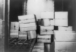 Cases of Confiscated Whiskey During Prohibition