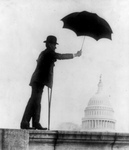 William D. Upshaw Holding Umbrella Over Capitol, Prohibition