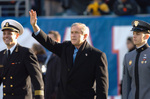 George W Bush Waving at 105th Army vs Navy Game