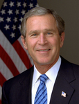 Portrait of George W Bush