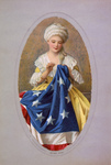 Picture of Betsy Ross Sewing the Betsy Ross Flag