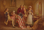Betsy Ross Explaining How She Made Her Flag