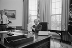 Jimmy Carter Working in the Oval Office