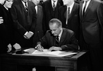President LBJ Signing the 1968 Civil Rights Bill