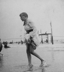 Woman Going Swimming at Coney Island