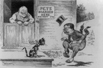 Cartoon of Theodore Roosevelt and William H. Taft