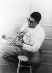 Dizzy Gillespie Playing Tumpet