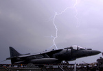 Lightning by AV-8B Harrier Jet
