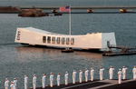 Sailors Passing the USS Arizona Memorial