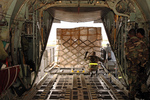 Loading a C-130 Aircraft