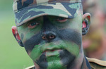 Soldier With Face Paint
