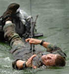Soldier During a Mountaineer Training Course