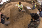 Archaeologists Studying Human Remains
