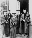 Maude Adams and Group in Graduation Gowns