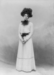 Ethel Barrymore Standing in a Dress