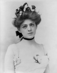 Ethel Barrymore With Floral Hair Accents