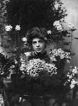 Ethel Barrymore With Flowers