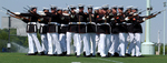 Marine Corps Silent Drill Platoon Performing