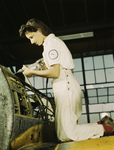Picture of a Female Riveter Assembling an Airplane