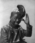 African American Boy With a Ball of Snow on His Head