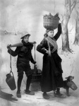 Boy and Girl Carrying Supplies
