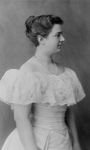 Frances Cleveland in a White Dress