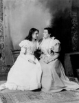 Anne Sullivan Sitting With Helen Keller