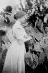 Helen Keller in a Sunflower Garden