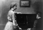 Helen Keller And Man at a Piano