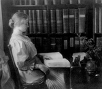 Helen Keller Reading Braille