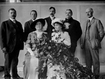 Anne Sullivan Macy and Helen Keller at a Flower Show