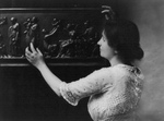 Helen Adams Keller Touching a Sculpture