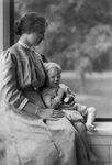 Helen Keller With a Little Boy
