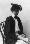 Helen Keller in Graduation Gown and Cap