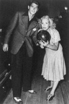Ronald Reagan and Jane Wyman Bowling