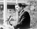 Ronald Reagan Delivering a Speech