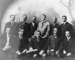 Booker T Washington With a Group of Men
