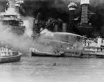 Sailors Fighting Flames on the Attack of Pearl Harbor