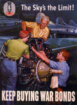 Picture of Riveters Working on a Plane Engine