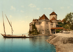 Chillon Castle on Geneva Lake, Switzerland