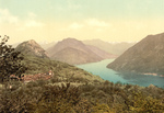 Village of Monte Bre on Lake Lugano, Switzerland
