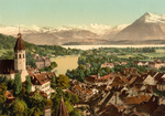 Village of Thun and Lake Thun in Switzerland