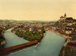 Aare River Flowing Through Thun, Switzerland