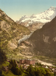 Eiger Glacier and Bear Hotel in Switzerland