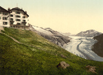 Belalp Hotel and Aletsch Glacier, Switzerland