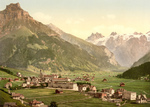 Village in Engelberg Valley, Switzerland