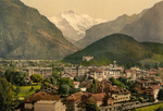 Town of Interlaken Near Jungfrau Mountain